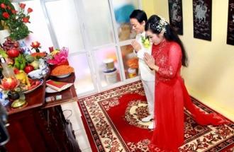 Lễ gia tiên ngày cưới và những phong tục không thể thiếu trong đám cưới truyền thống